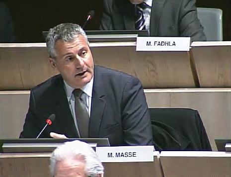 Christophe Masse intervient dans le débat sur la sécurité