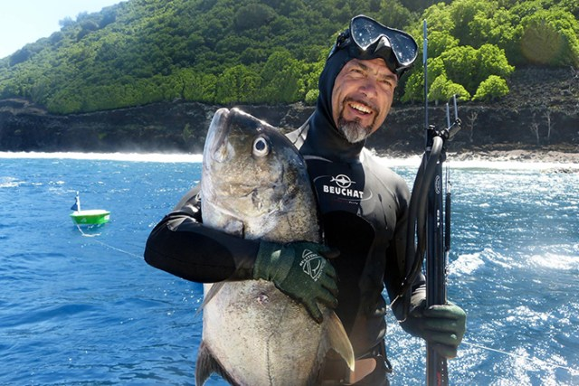 Francis Le Gall, en mode chasse sous marine