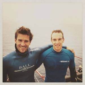 Guillaume Nery et Morgan Bourc'his