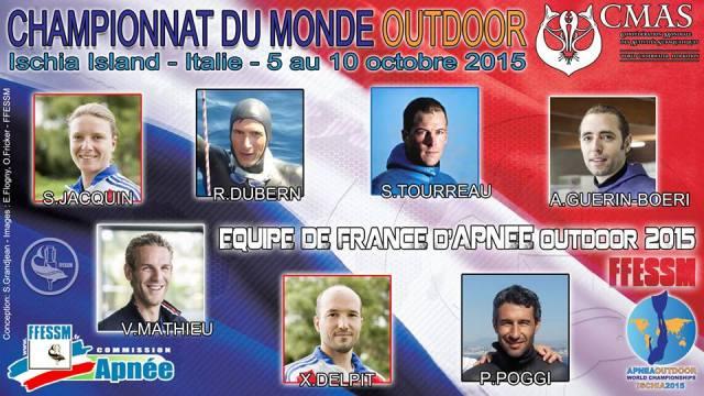 l'équipe de France FFESSM 2015