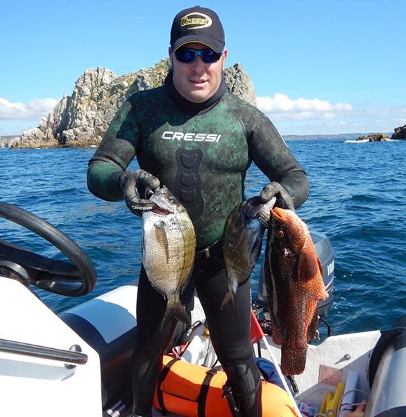 Daniel Delille et son résultat de pêche d'aout