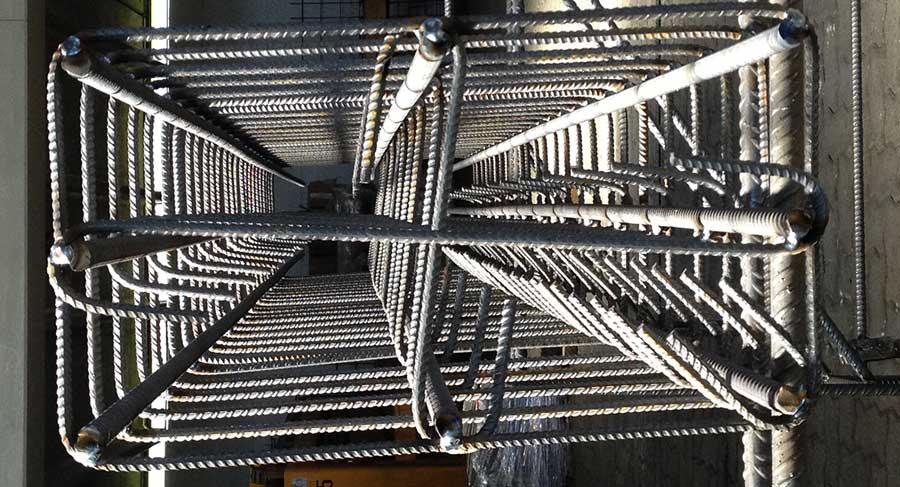 Gabbie rettangolari in ferro per cemento armato