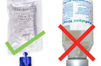 IV Paracetamol: Bags not Vials
