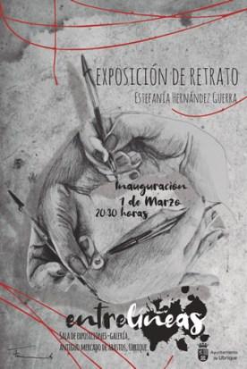 Cartel de exposición Entrelíneas