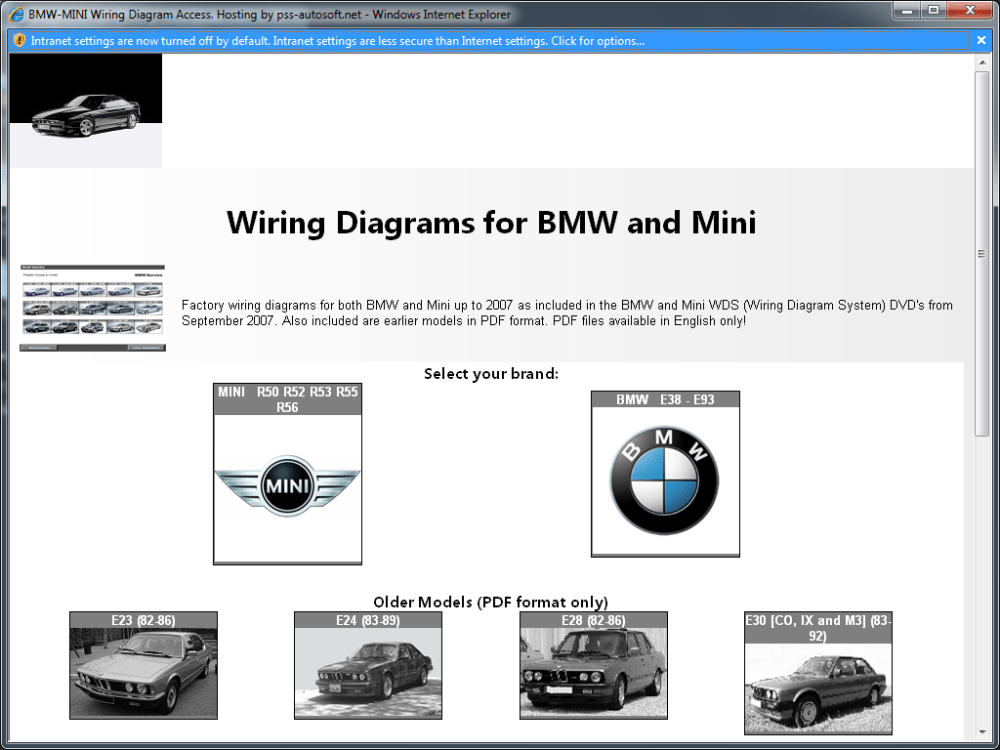 medium resolution of pss autosoft net s bmw and mini wiring diagram system wds wds wiring diagram wds wiring diagram