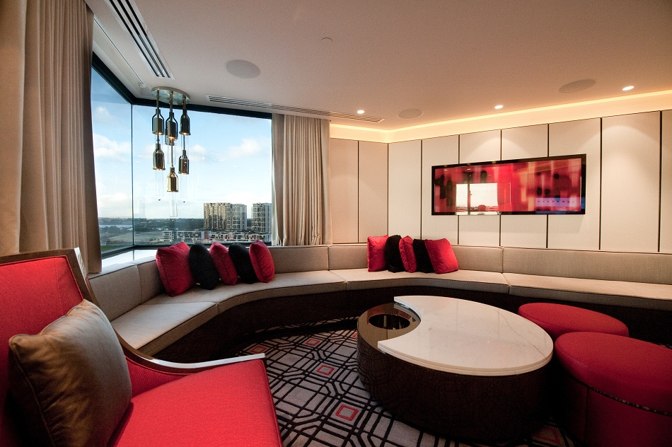 custom made living room furniture ideas with electric fireplace and tv crown perth – infinity suite (presidential suite) | ps ...