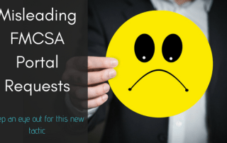 misleading FMCSA portal access requests