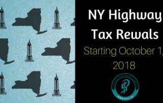 NY Highway Use Tax renewals