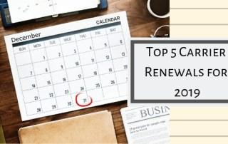 Top 5 Carrier Renewals January 1.