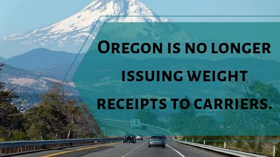 Motor carriers operating in Oregon
