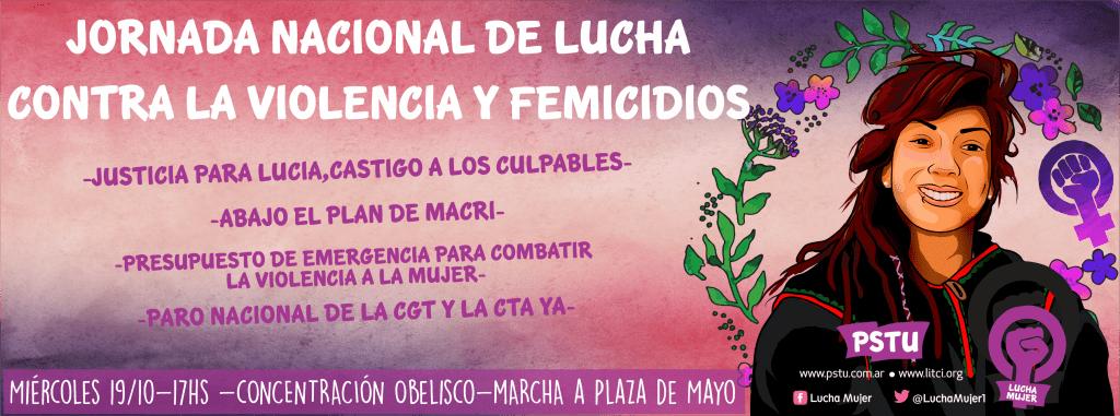 Jornada Nacional de lucha contra la violencia y femicidios