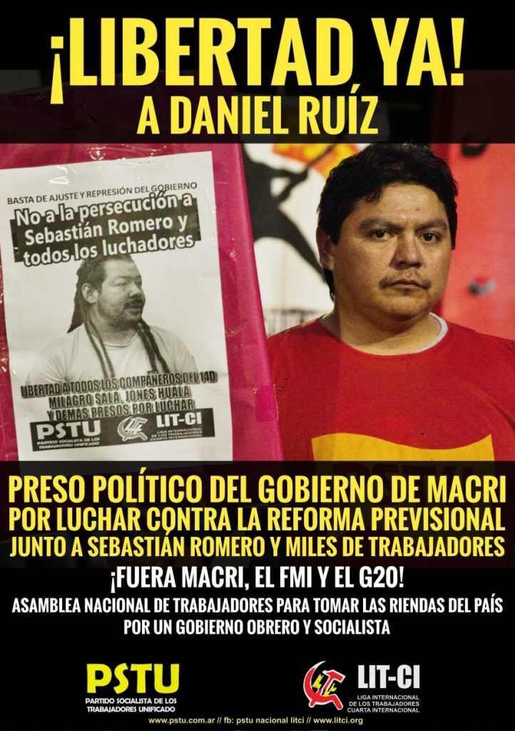 Libertad YA a Daniel Ruiz