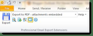 MessageExport Outlook toolbar