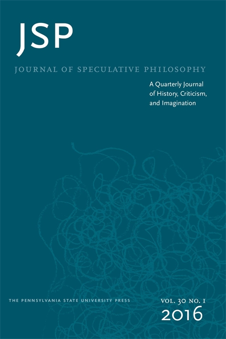 Journal of Speculative Philosophy