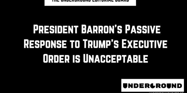 Editorial: President Barron's Passive Response to Trump's Executive Order is Unacceptable