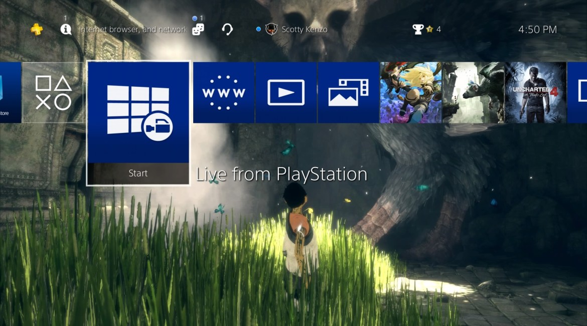 PS4 System Software 4.50 Beta Begins – Custom Wallpapers