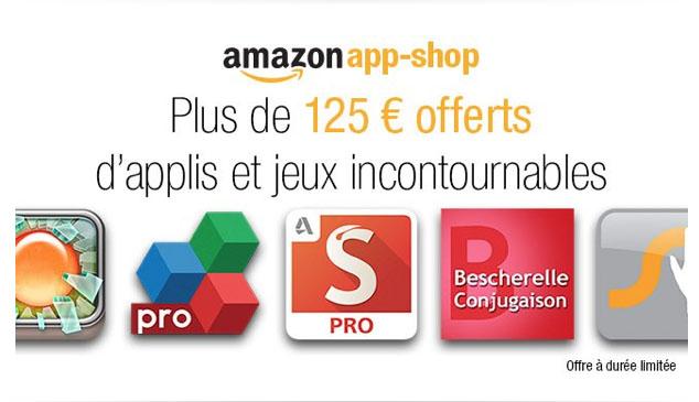 125€ d'applications Android offertes par Amazon