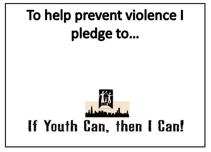Take a Stand! Take The Pledge!