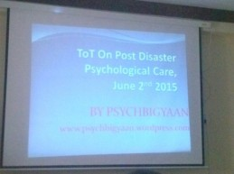 tot on post disaster psychological care