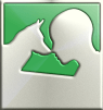 Psychiatric Service Dog Partners logo in a stylized silver pattern; dog and human silhouettes touch noses