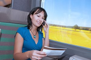 woman receiving a phone call