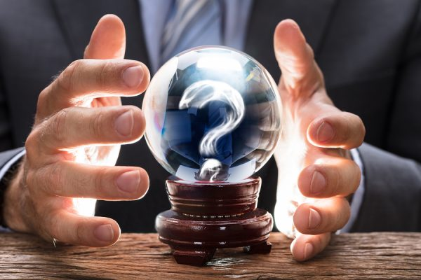 seeing the future through a crystal ball