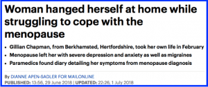 DailyMailHeadline 300x126 - HRT v no HRT. One of many Menopause & Cancer standoffs.