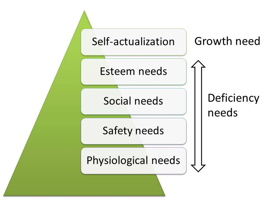 deficiency and growth needs in Maslow's hierarchy of needs
