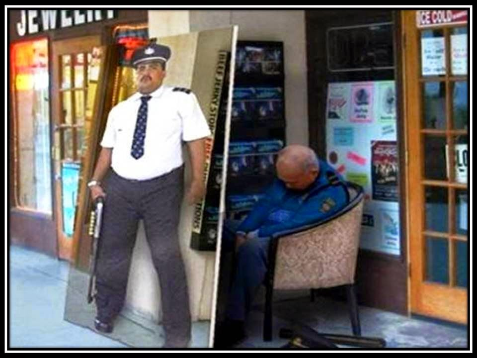 Height of laziness security guard