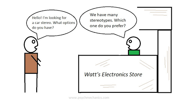stereotype psychology- cartoon