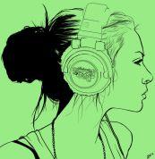 headphone grenn