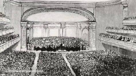 Piotr Iljič Čajkoskij diriguje svoju V.Symfóniu v Carnegie Hall (1871)
