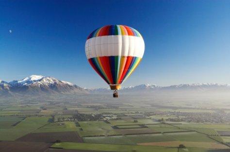 miesto siesty - pohľad z balóna
