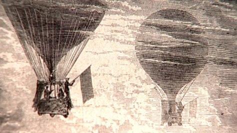 miesto siesty - balón (Jules Verne)