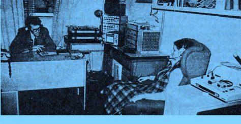 Pohľad do psychologického laboratória Čs.. rozhlasu v Bratislave (1985) pri skúmaní vplyvu hudby.