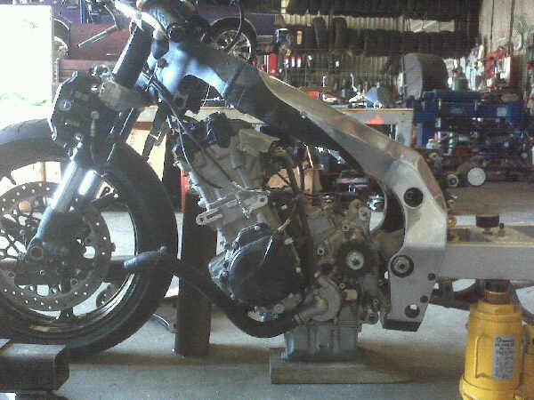 will a 09 1000 motor fit on a 06 750 gsxr