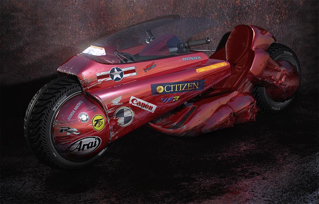Moto Wallpaper 3d Kaneda S Bike