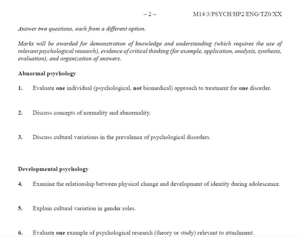 Good Topics For Psychology Research Paper Introduction To Psychology