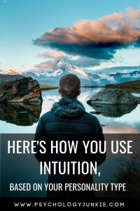 Find out how each #personality type uses #intuition! #Personalitytype #MBTI #Myersbriggs #INFJ #INTJ #INFP #INTP #ENFP #ENTP #ENFJ #ENTJ #ISTP #ISFP #ISTJ #ISFJ #ESFJ