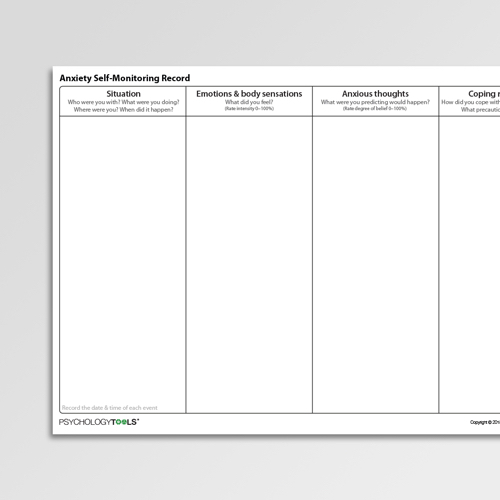 Cbt Anxiety Management Worksheets Amp Handouts