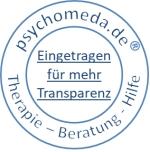 Eingetragen im Psychomeda-Therapeutenverzeichnis