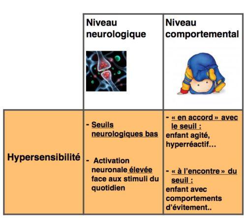 hypersensibilité TSA autisme DUNN profil sensoriel