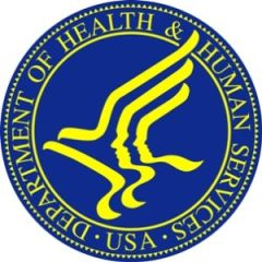 HHS logo. HHS offers information on HIPAA