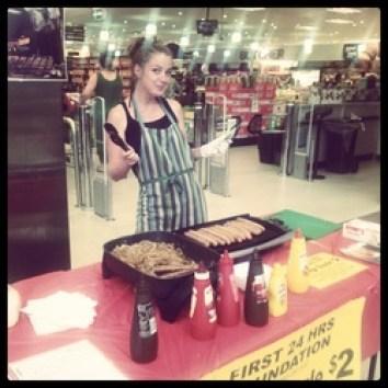 sausage sizzle australia