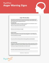 Anger Warning Signs Worksheet