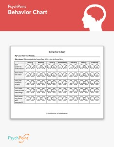 Behavior chart worksheet also psychpoint rh