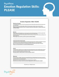 Emotion Regulation Skills: PLEASE Worksheet