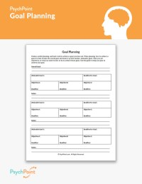 Goal Planning Worksheet | PsychPoint