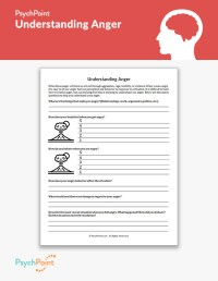 Understanding Anger Worksheet