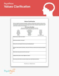Values Clarification Worksheet | PsychPoint